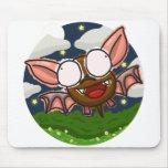 Scribble Bat Mouse Pad