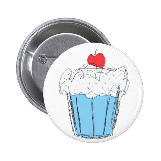 Scribble Cupcake Pinback Button