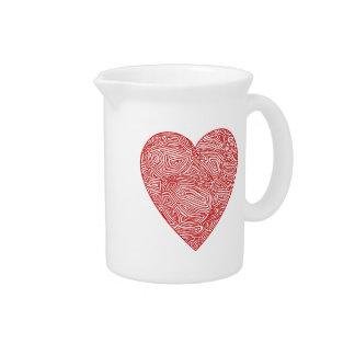 Scribble Heart Drink Pitchers