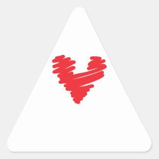 SCRIBBLE HEART TRIANGLE STICKER