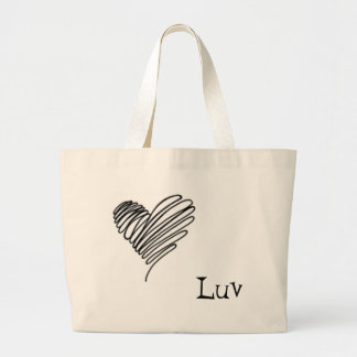 scribble, Luv Large Tote Bag