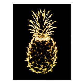Scribble Pineapple Postcard