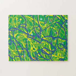 Scribble Puzzle (Green BG)