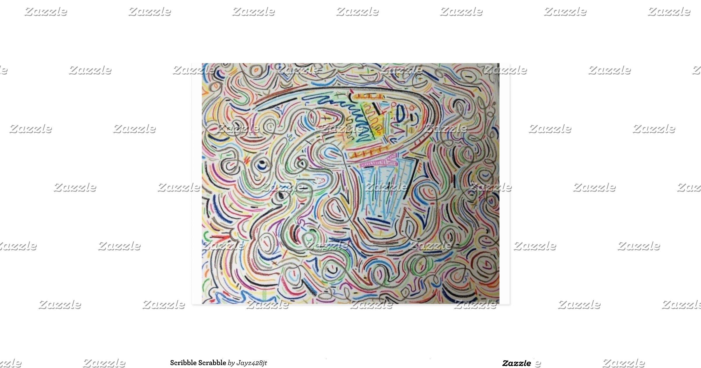 Scribble Drawing Uk : Scribble scrabble postcard zazzle