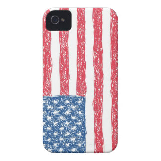Scribble Style American Flag iPhone 4 Cover