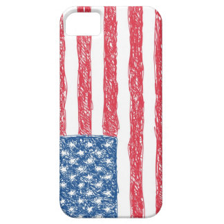 Scribble Style American Flag iPhone 5 Case