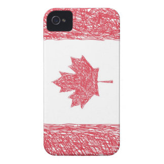 Scribble Style Canadian Flag iPhone 4 Cover
