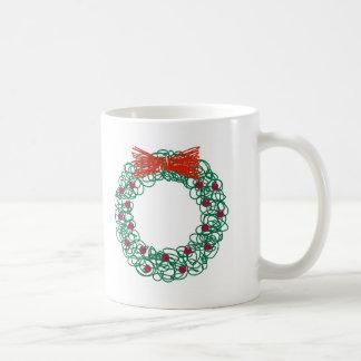 Scribble Wreath Mugs