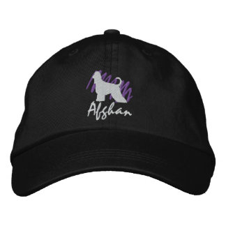 Scribbled Afghan Embroidered Hat