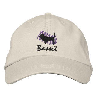 Scribbled Basset Embroidered Baseball Caps