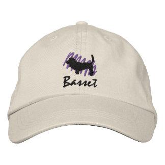 Scribbled Basset Embroidered Hat