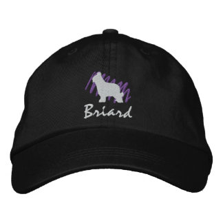 Scribbled Briard Embroidered Baseball Cap