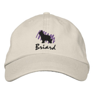 Scribbled Briard Embroidered Baseball Caps