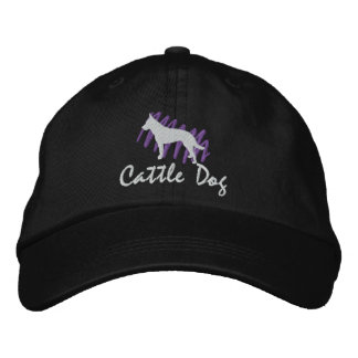 Scribbled Cattle Dog Embroidered Baseball Cap