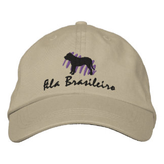 Scribbled Fila Brasileiro Embroidered Hats