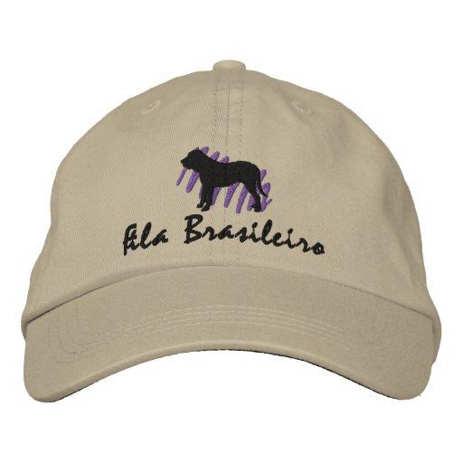 Scribbled Fila Brasileiro Embroidered Hats