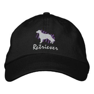 Scribbled Flat-Coated Retriever Embroidered Baseball Cap