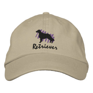 Scribbled Flat-Coated Retriever Embroidered Baseball Caps