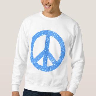 Scribbled Peace Symbol - Baby Blue Sweatshirt