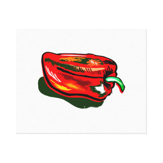 Scribbled red pepper gallery wrapped canvas