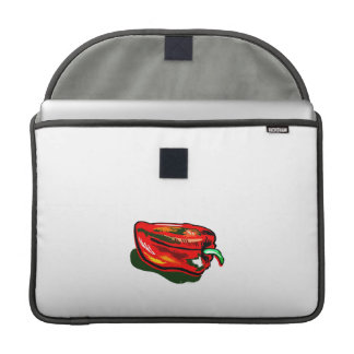 Scribbled red pepper sleeves for MacBook pro