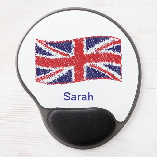 Scribbled Union Flag Gel Mousepad