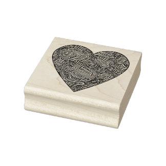 Scribbleprints Heart Rubber Stamp