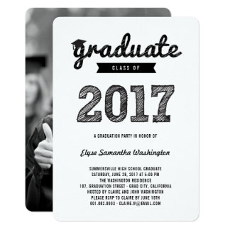 Scribbles Graduate Class Of 2017 Grad Party Invite