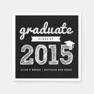 Scribbles Sketch Graduate Class Of 2015 Napkin Paper Serviettes