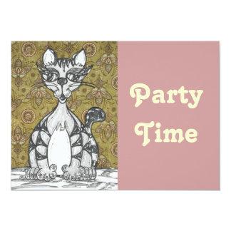 Scribby Cat 4 13 Cm X 18 Cm Invitation Card