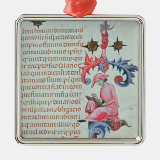 Scribe or chronicler, possibly a self portrait of christmas ornament