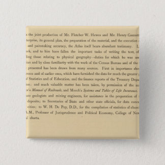 Scribner's statistical atlas 15 cm square badge