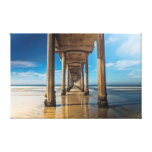 Scripps Pier Stretched Canvas Print