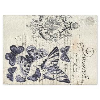Script Butterfly Collage Sheet