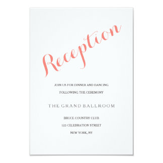 Script Coral Pink | Reception Enclosure Card