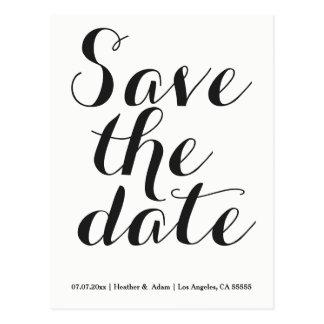 Script Font Save The Date Postcard