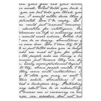 Script Handwriting Tissue Paper