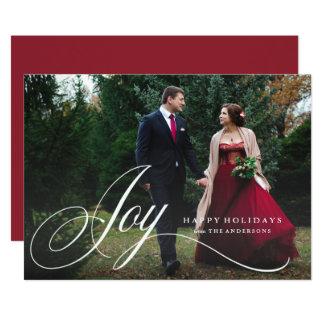 Script Joy Holiday Photo Card