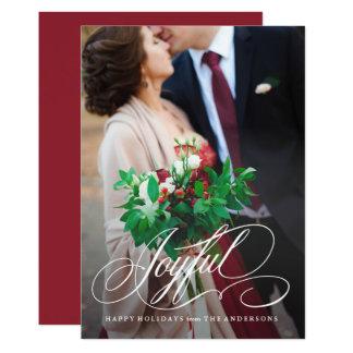 Script Joyful Holiday Photo Card