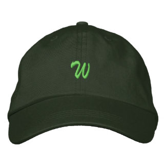 Script-Letter W Embroidered Hat
