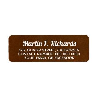 script name + address information on brown