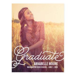 Script Overlay Graduation Announcement /Invitation Postcard