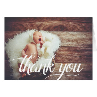 Script Overlay | Photo Thank You Card