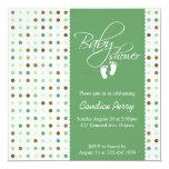 Script Polka Dot Baby Shower Invite