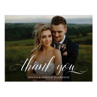 Script Thank You Wedding Postcard