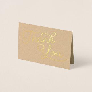 Script Thank You | Wedding Thank You Foil Card