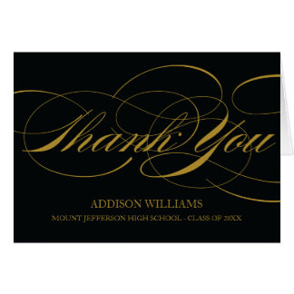 SCRIPT THANKS | GRADUATION THANK YOU CARD