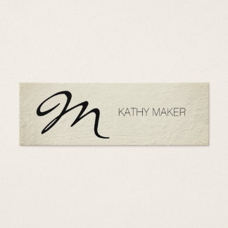 Script Type Monogram Mini Business Card