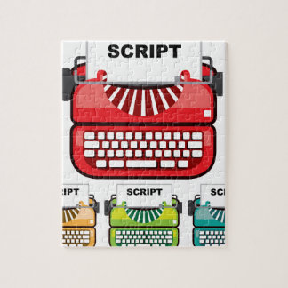 Script Typewriter Jigsaw Puzzle