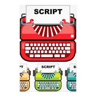 Script Typewriter Stationery Paper